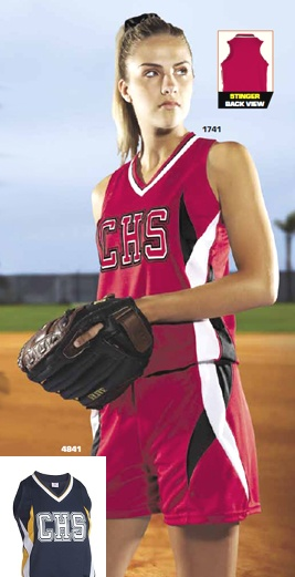Clearance Teamwork (Stinger) Women's/Girls Softball Short  Stock Uniforms, available to ship same day.  Visit us at www.awesome-sports.net