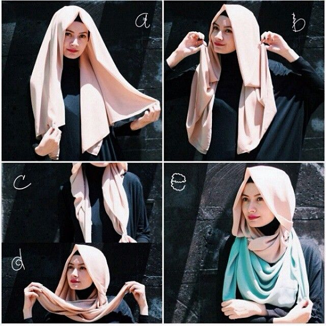 Stylish Loose Hijab Tutorial In 5 Steps