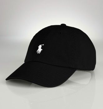 MBBDD.COM - Cheap Ralph Lauren Small Pony Hat In Black White Sale Ralph Lauren Outlet