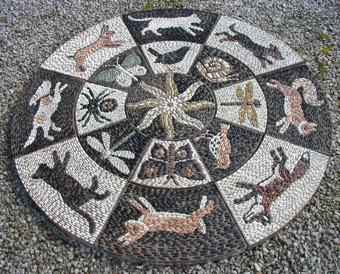 Edgewood Road, Birmingham, England. This pebble mosaic was cast at Zantium Studios as 17 separate slabs.