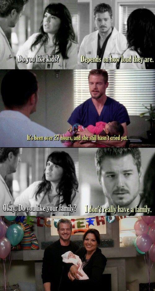 Grey's Anatomy  Quem viu esse episódio essa semana e ficou pensando só em como eles teriam uma criança no futuro?