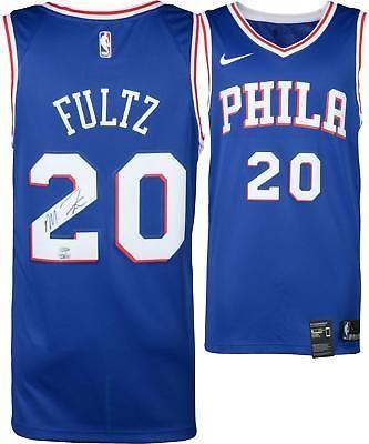 e5d4979189d Markelle Fultz Philadelphia 76ers Autographed Blue Swingman Jersey Upper  Deck  Basketball