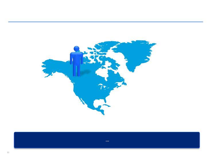 mapa interactivo de Norteamérica en Power Point