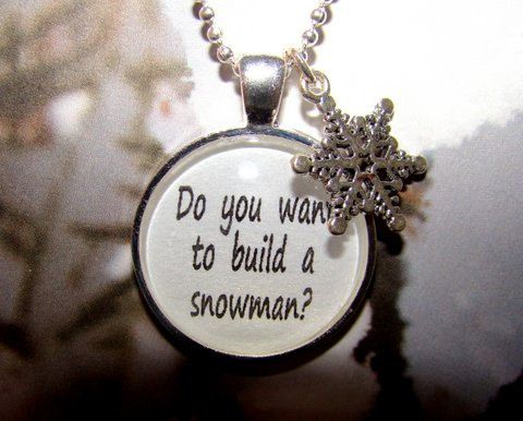 "Disney's ""Frozen"" Inspired Necklace, Do You Want To Build A Snowman, Frozen Necklace, Disney Frozen Jewelry, Snowflake Charm on Etsy, $12.95"