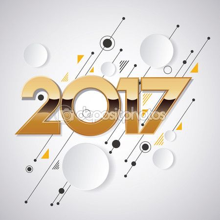 2017 new year creative design for your greetings card, flyers, invitation, posters, brochure, banners, calendar — Stock Vector © kupritz #120537054