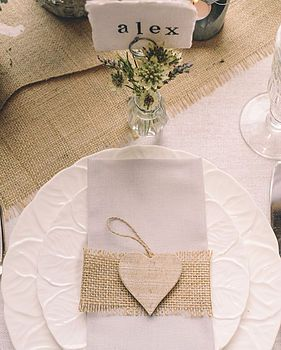 hessian fabric by the metre by the wedding of my dreams | notonthehighstreet.com