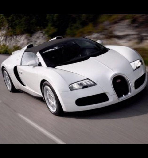 White Bugatti Veyron Grand Sport CARS4859 Art Print Poster A4 A3 A2 A1