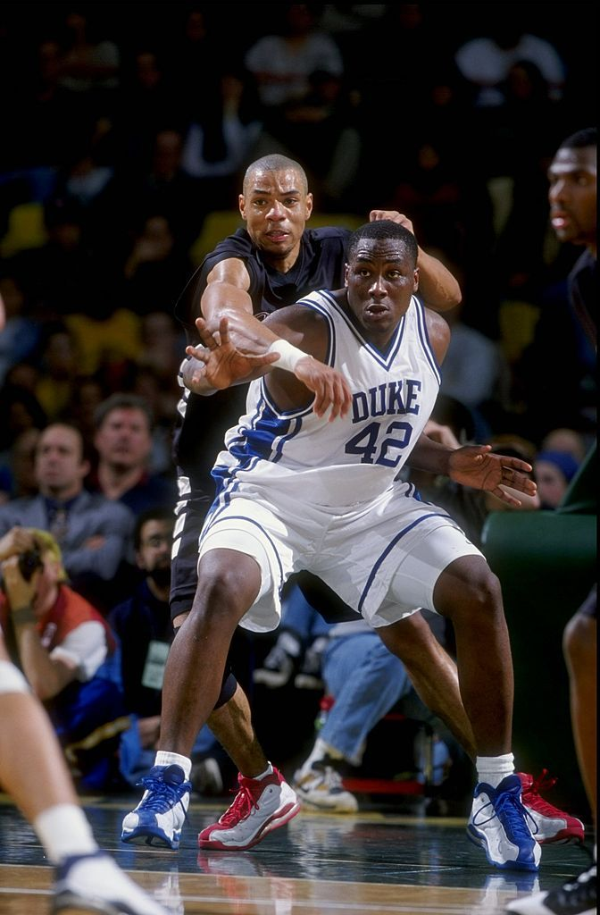 Forward Elton Brand of the Duke Blue Devils in action during the ... 6ee87d7f3