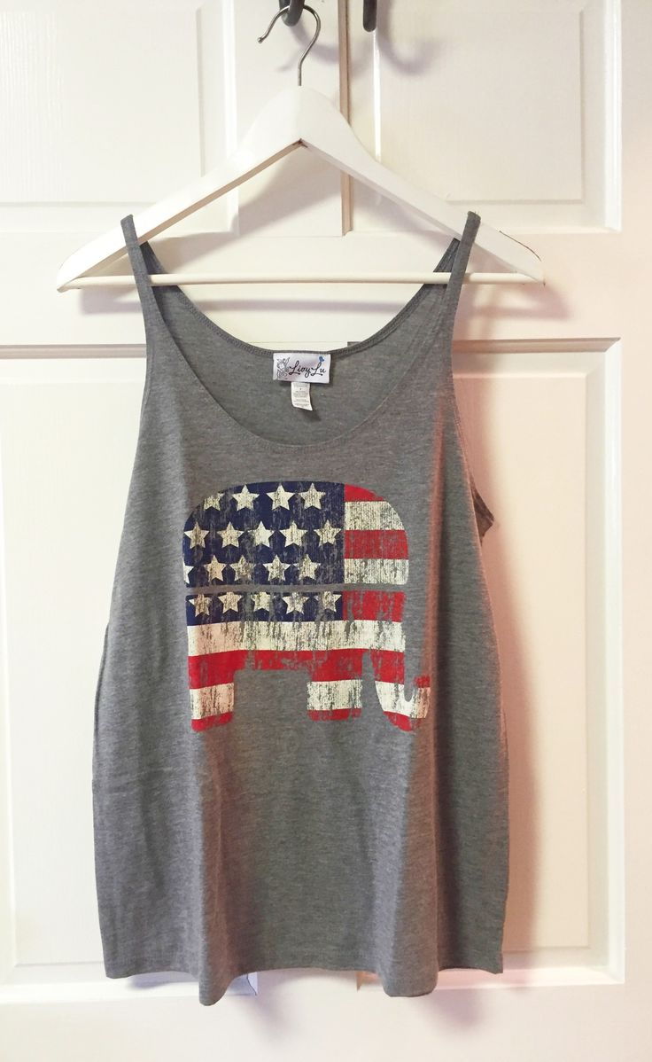 Vintage Flag Republican Gray Slouchy Tank