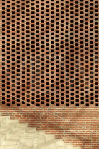 Verkatehdas Arts Congress Centre JKMM Architects Hmeenlinna Finland 2007 Detail of spaced brick