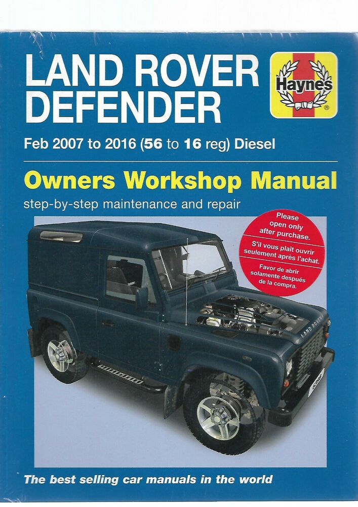 Haynes Land Rover Defender 90 110 130 Chassis Double Cab Pick Up Station Wagon Land Rover Land Rover Defender Defender 90