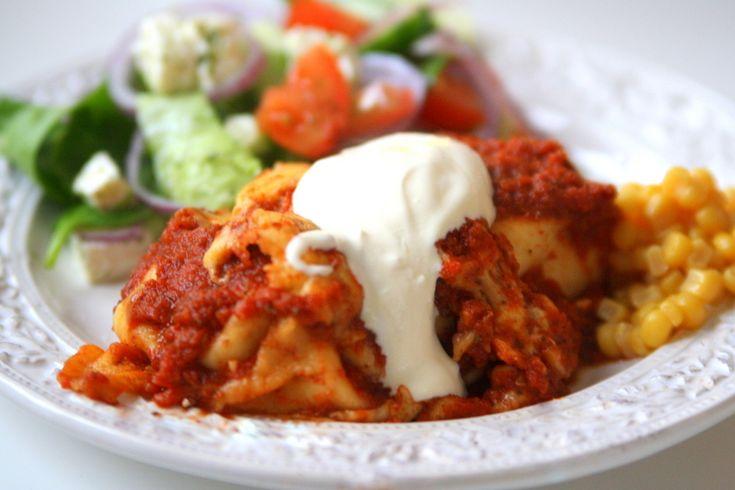 Kycklingenchiladas | Jennys Matblogg (med recept)