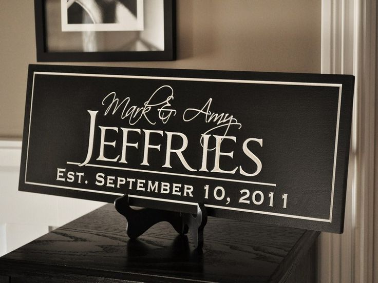 Personalized Family Name Sign Plaque by mrcwoodproducts on Etsy, $41.00
