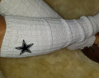 Dallas Cowboys Leg Warmers, Boot Socks, Embroidered NFL Logo, Gameday team colors