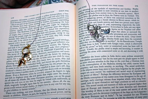 Book Charms  Themed Bookmarks with Charms  by SilverEchoEnterprise, $10.00