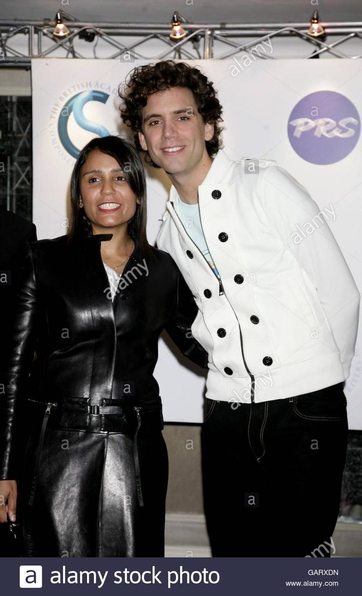 Mika and Amanda Ghost at the ivor novello awards in 2008
