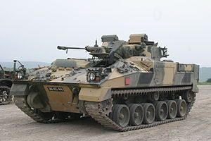 warrior tracked armoured vehicle