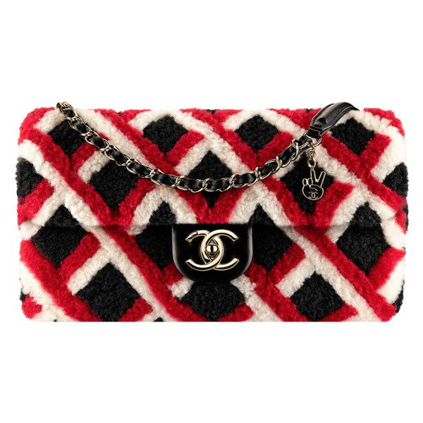black, red white Chanel ❤ liked on Polyvore featuring bags and handbags