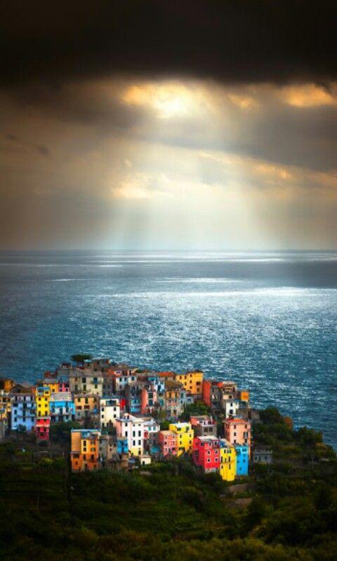 Unas preciosas vistas de Cinque Terre, Italia.