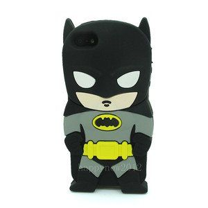 Black 3D Batman Pattern Soft Silicone Case Cover For iPod Touch 4 4g 4th gen