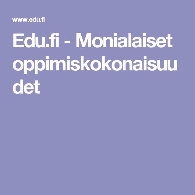 Edu.fi - Monialaiset oppimiskokonaisuudet