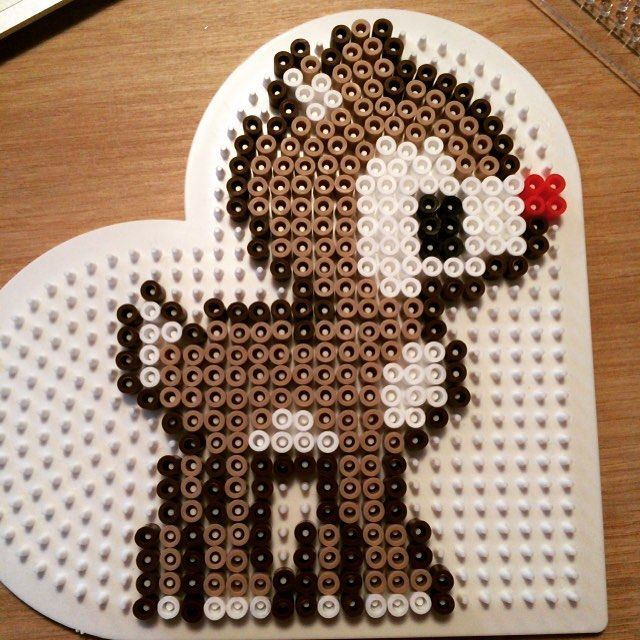 Rudolph Christmas hama beads by playfuldicte