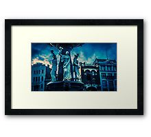 Deep Blue at the Alexandra Fountain - Bendigo, Victoria Framed Print