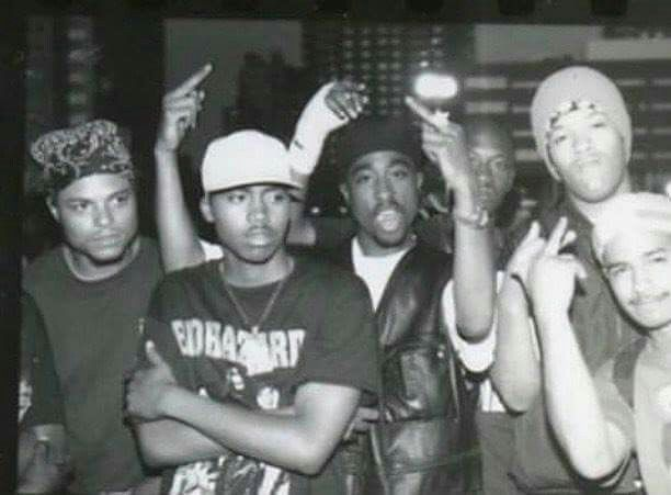 NAS, 2pac & Redman on July 23, 1993 at the Palladium in NYC. Brand new release today! So happy to finally have a pic of Pac & Nas. LEGENDS! : Al Pereira