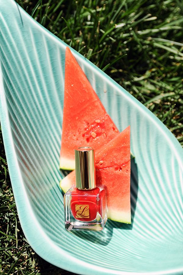 Rich color. Long-wear. Pure Color Nail Lacquer in Pure Red.