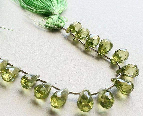 AAA Cubic Zirconia Peridot Green Crystal Zirconia by gemsforjewels