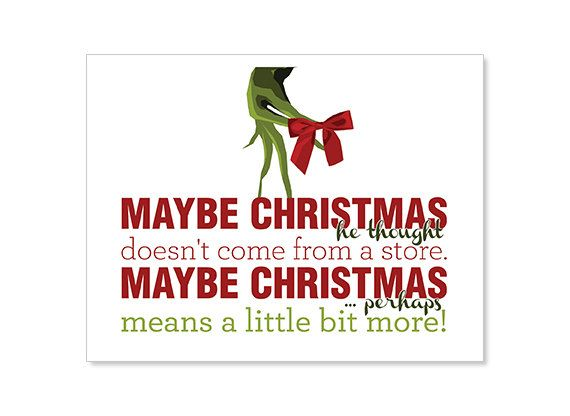 Christmas/Holiday Quote Cards  Digital Download Set by nutmegan821, $8.00 (The Grinch)