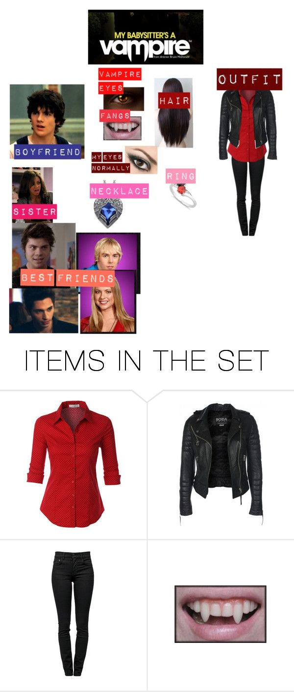 """me if i was in my babysitter's a vampire"" by supernatural-fan-1999 ❤ liked on Polyvore featuring art"