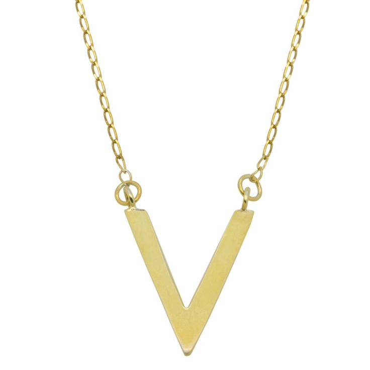 V Necklace - Gold - Necklace This is available for purchase on www.myjewelleryshoponline.com.au  #jewellery #jewelry #fashion2014 Make a splash with fashion