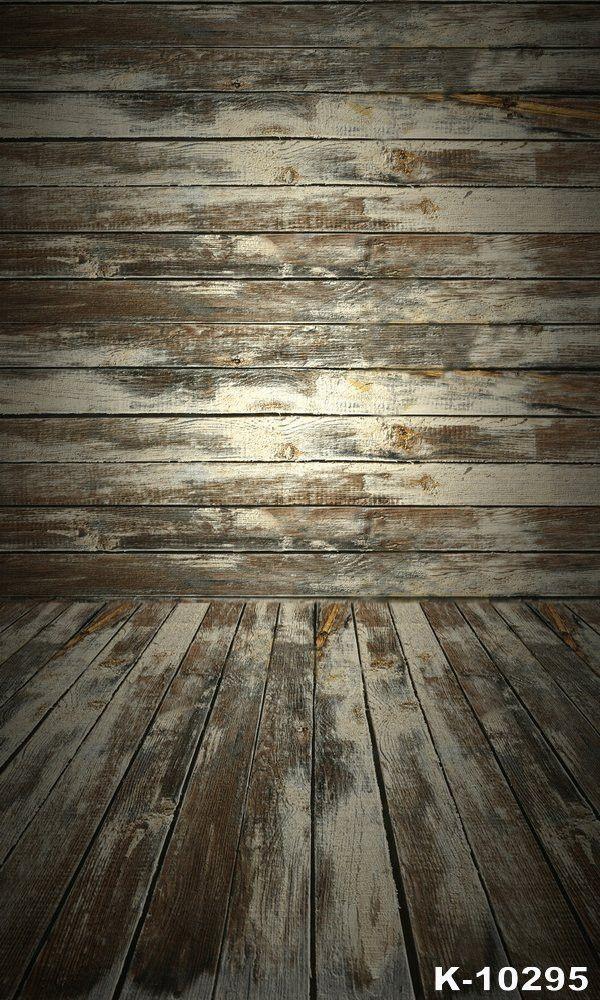 Retro Wooden Planks Vinyl Backdrop Studio Background Fundos Para Fotografia Flooring Baby K-10295