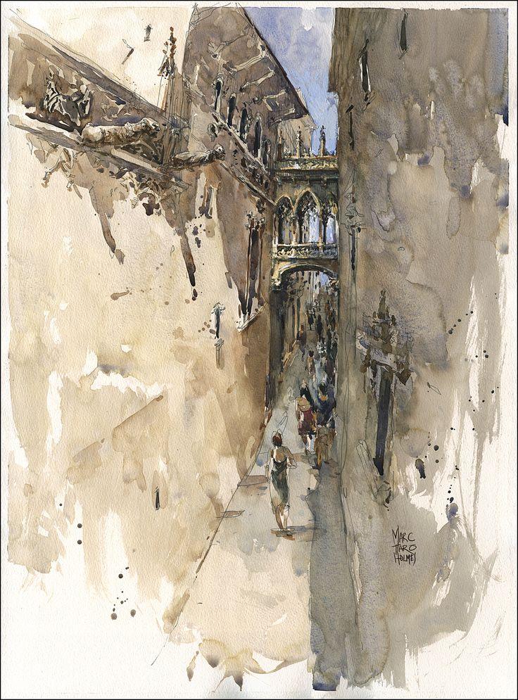Bisbe Street Bridge, Gothic Quarter / Marc Taro Holmes