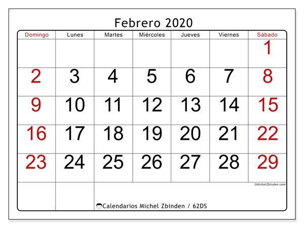 Calendario Febrero 2020 62ds Calendario Junio Calendario