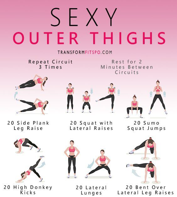 A great workout blast filled with outer thigh exercises to develop your sexy legs and glutes! Read the post for descriptions for all of the exercises!