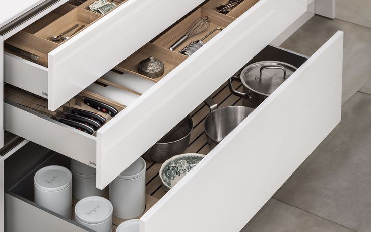 Do the inside of your kitchen drawers match the outside? SieMatic interior accessories bring timeless elegance to every part of your kitchen.
