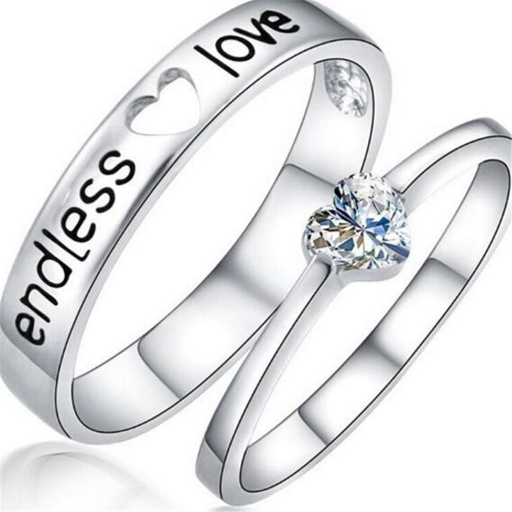 Find More Rings Information about Couple Lovers Rings Hot selling Endless love Crystal Silver Couple Rings Wedding Band His and Her Promise Rings,High Quality ring wrench,China ring ring ring ring ringtone Suppliers, Cheap ring from imixlot on Aliexpress.com