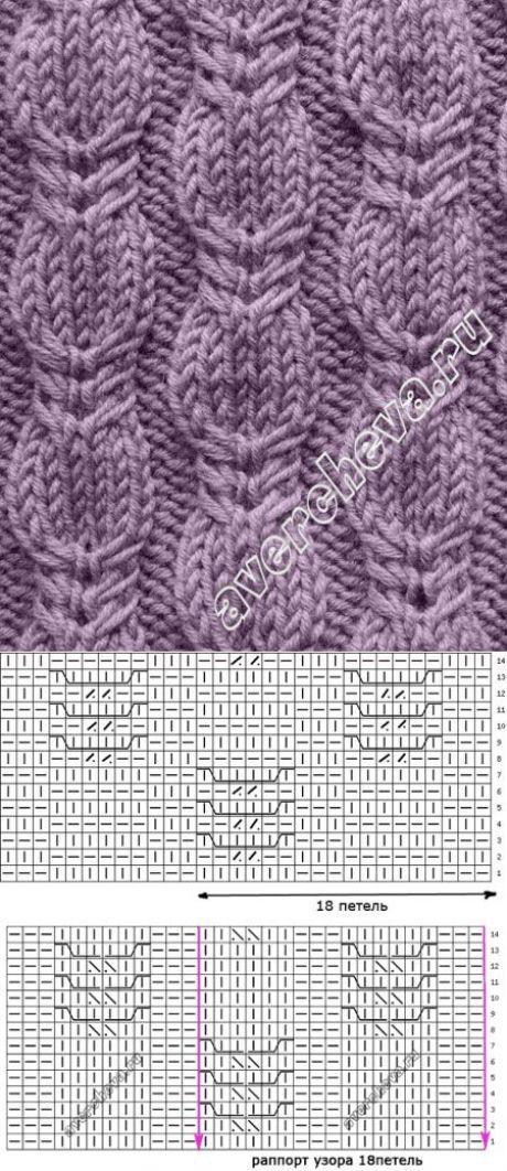 узор из кос | каталог вязаных спицами узоров