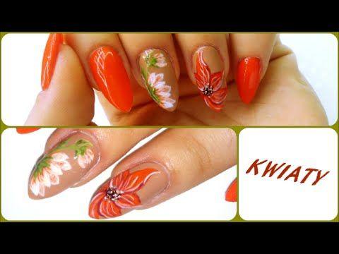 Flowers Nail Art - Kwiaty na paznokciach   JJ - YouTube