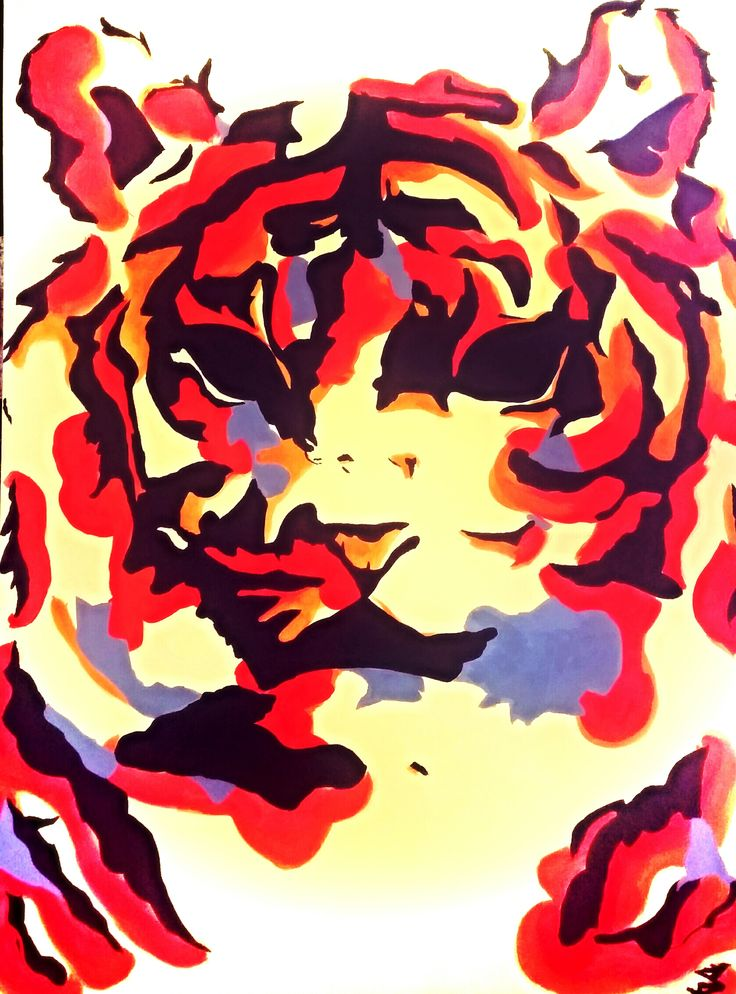 Mr Tiger, Acrylic colours on Canvas S x