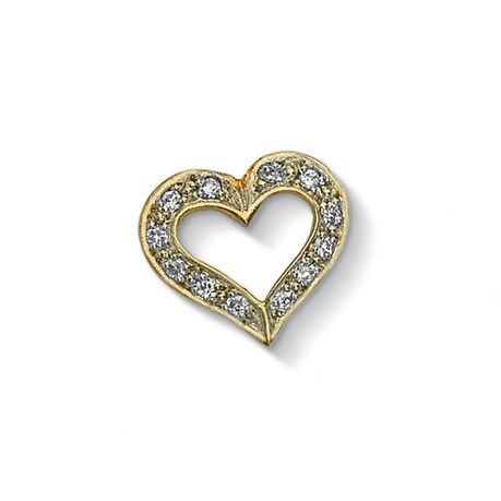 Pave Heart Treasure - Meaning: Friendship (CC404V-WT)