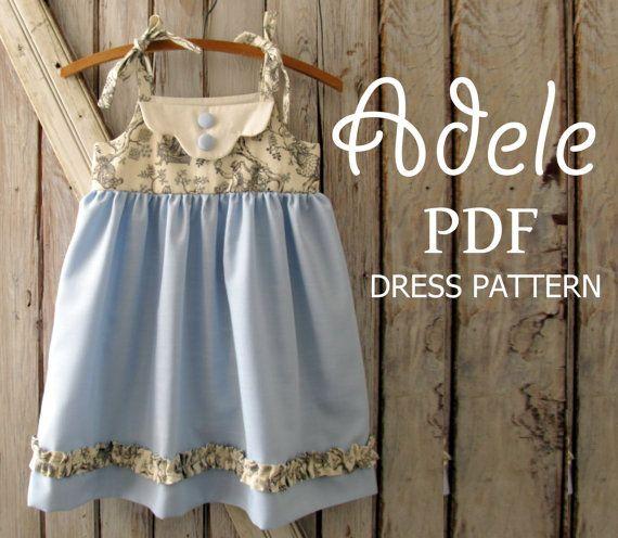 Adele - Twirl Vintage Style Dress Pattern.  Girl's Sewing Pattern. Kids Clothing.  PDF Pattern Sizes 1-8 on Etsy, $8.69 AUD
