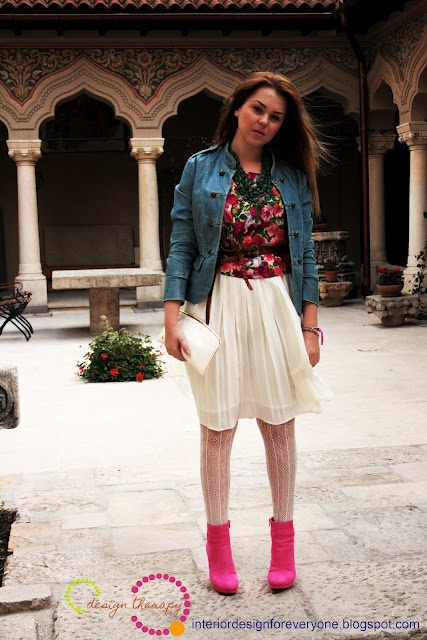 floral print and lace