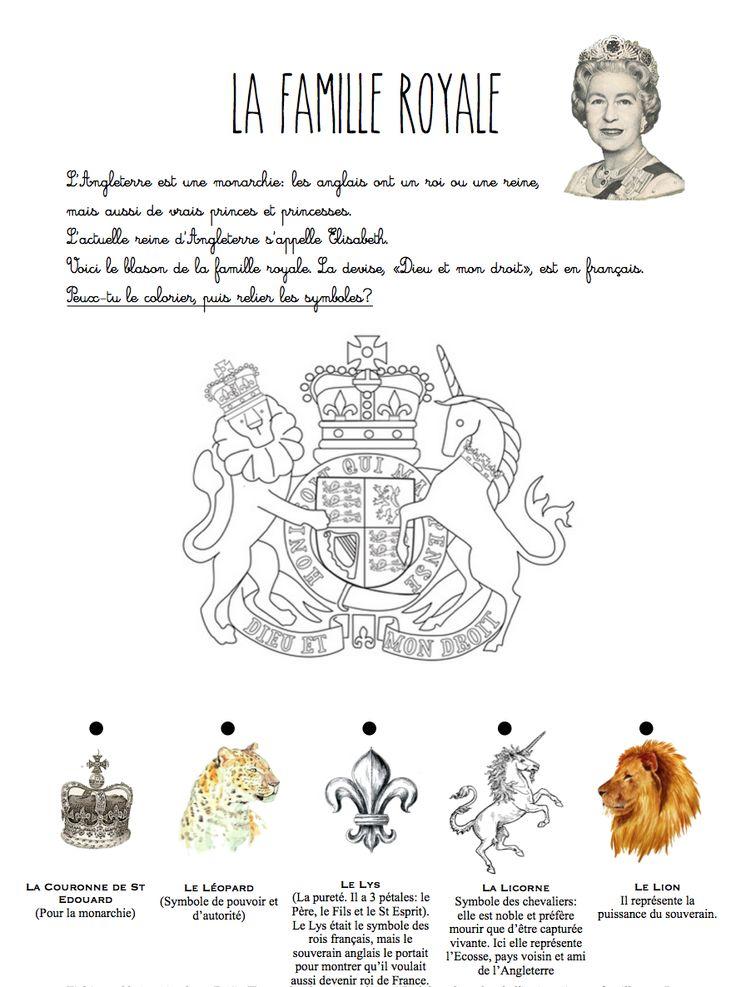 la famille royale symboles h raldiques blason fichier sur. Black Bedroom Furniture Sets. Home Design Ideas