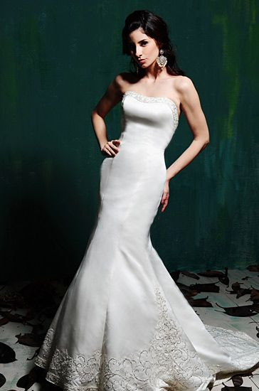 9 best images about mermaid wedding gowns on pinterest for Around the neck wedding dresses