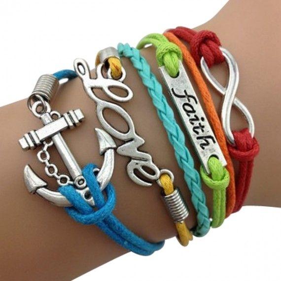 Rainbow Faith Arm Party Bracelet