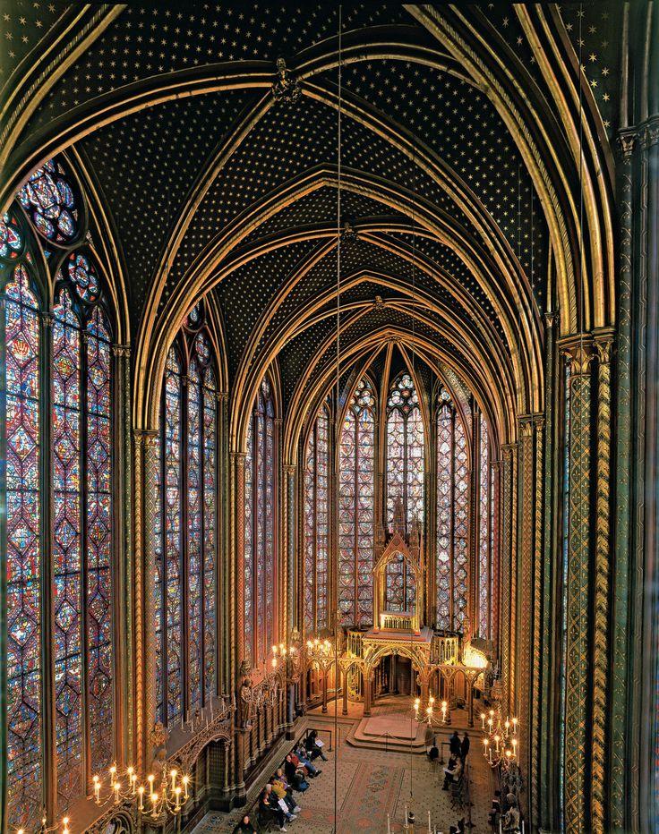 La Sainte-Chapelle, a royal medieval Gothic chapel near the Palais de la Cité…
