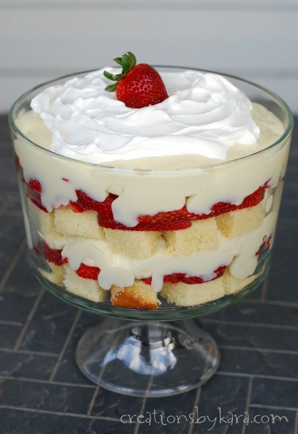 Strawberry Vanilla Pudding Pound Cake Trifle Recipes
